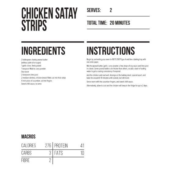 chicken satay strips