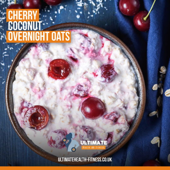 cherry coconut overnight oats