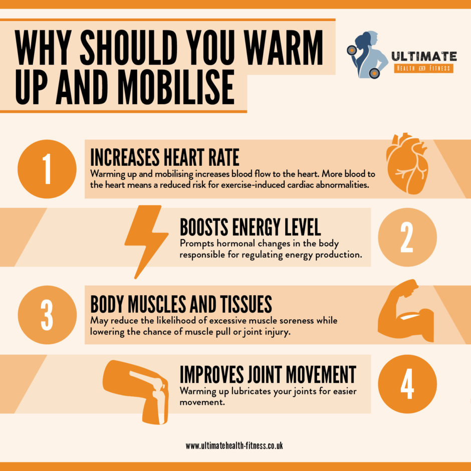 warm up and mobilise