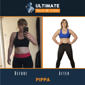 pippa before and after